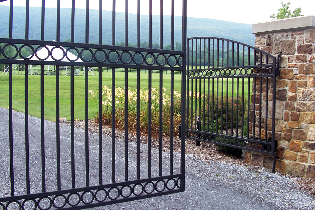 Wrought iron gates raleigh nc cast elegance