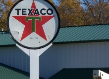 Texaco Sign Restoration After Job 1