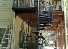 Installing Iron Staircase After (Job 3)