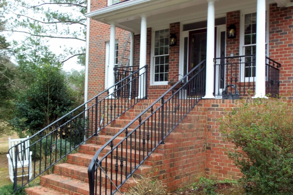 Cast Iron railings on porch.