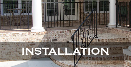 Iron railing installation Raleigh NC