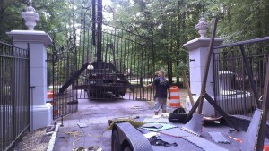 Iron Estate Gate Installation Raleigh NC