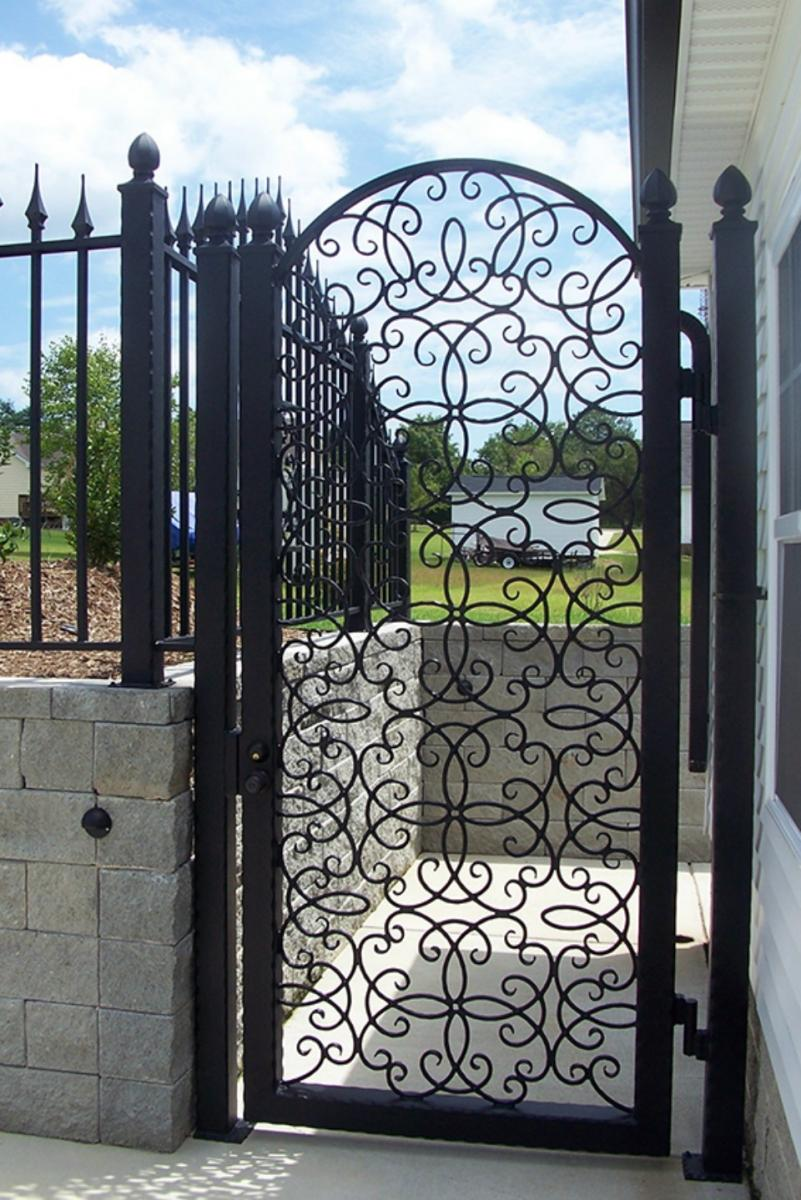 Iron gate gallery raleigh nc cast iron elegance - Interior decorative wrought iron gates ...
