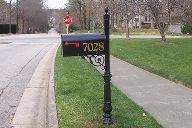 Wrought Iron Mailbox Post Raleigh NC